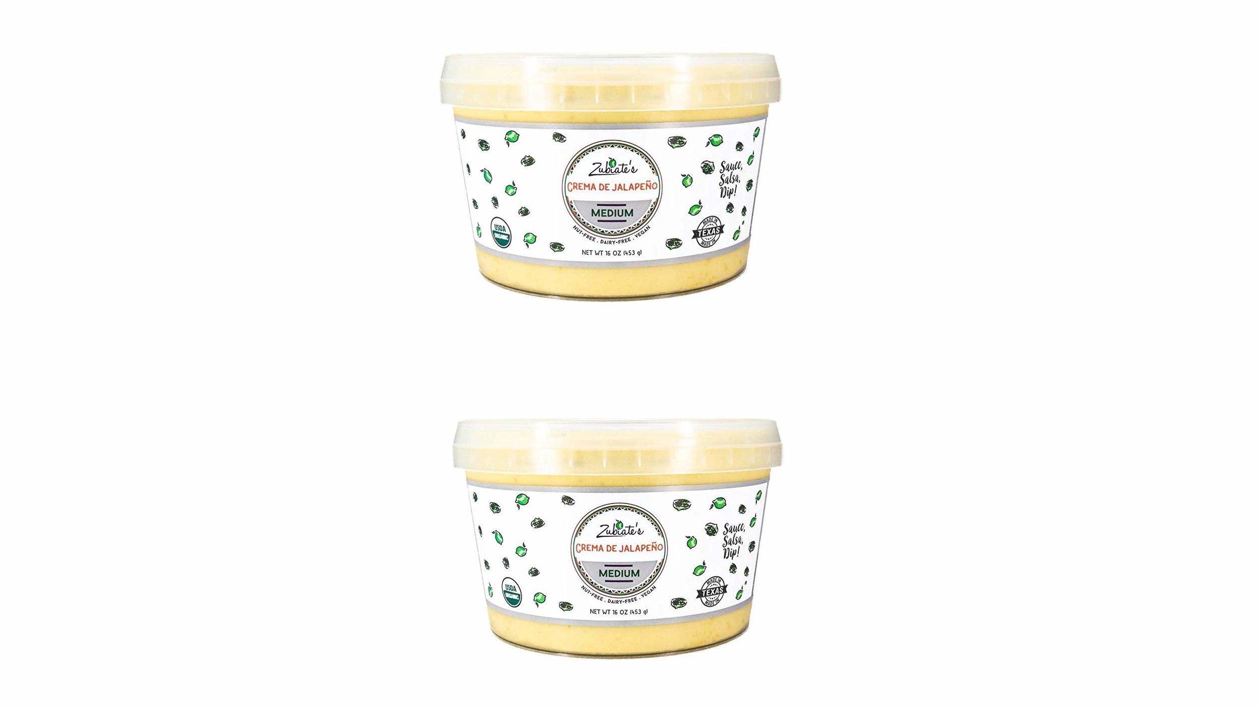 """Zubiate's Crema de Jalepeno vegan """"cheese"""" dip"""