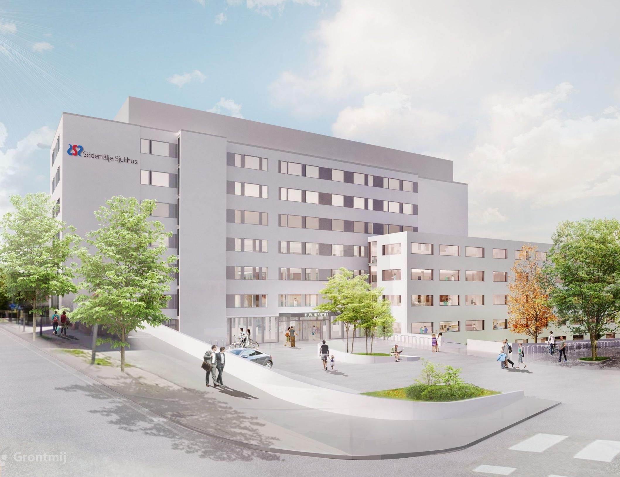 Bilden föreställer Södertälje sjukhus. Bild: Södertälje sjukhus.