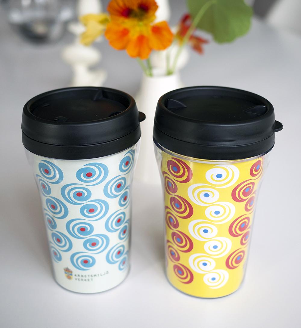 Design av mönster till Arbetsmiljöverkets kaffemuggar.