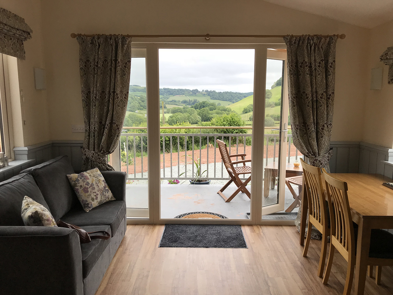 Spectacular views of Brecon Beacons from top end cosy holiday cabin.JPG