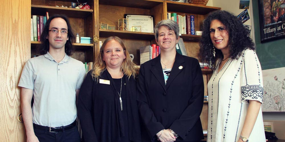Education & Writing Specialist Nick Maydak, Shannon Brenner, Cindy Kerr, and Academic Counselor Barb Sahlaney