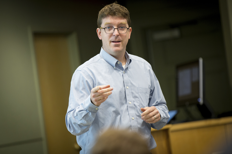 Assistant Professor and Director of the Chatham Scholars program David Fraser, PhD