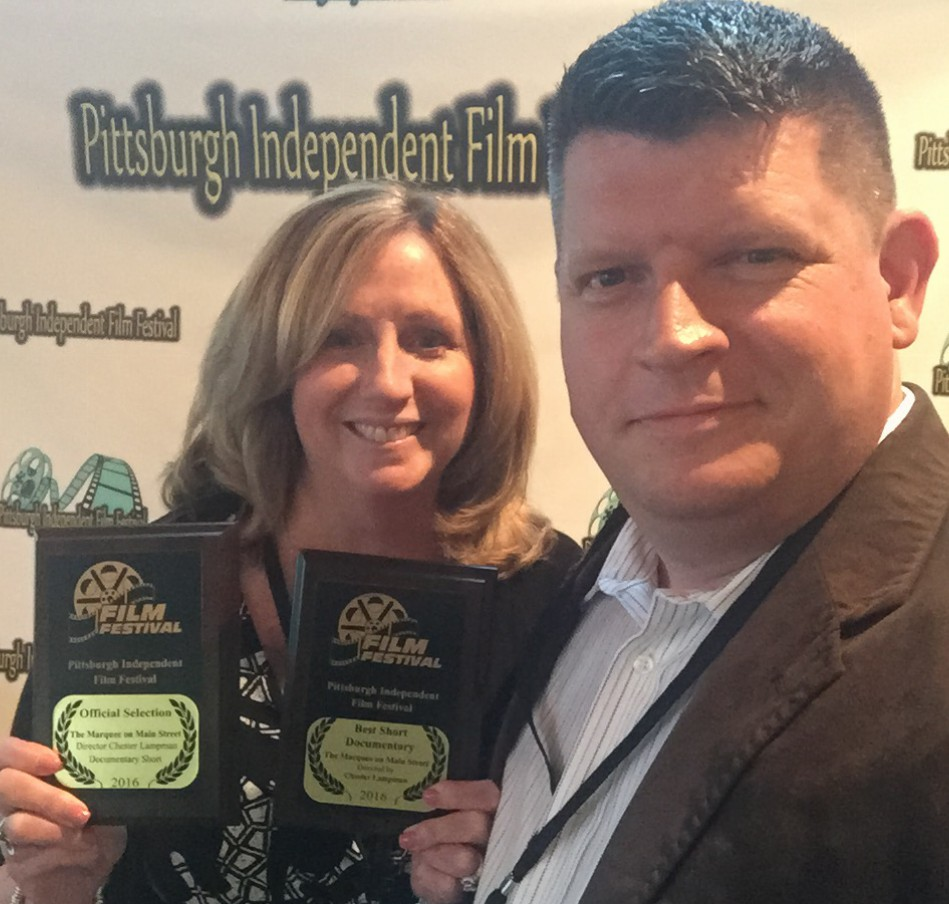Chester Lampman and his wife Mary at the Pittsburgh Independent Film Festival