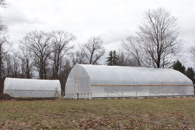 The moveable high tunnel and the hoop house