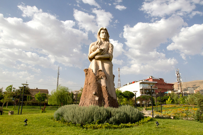 If northern Iraq is an oasis of peace in a volatile region, then its urban parks—moments of green in the grey—provide an analogous respite in the concrete city. The locations of some are especially meaningful. Park Daik (Mother Park), a lush garden, is cultivated on soil previously occupied by a Saddam-directed prison. At the center is a monument to the future stands: a woman holding a baby, sculpted as if she were growing from a tree, surrounded by lavender. Nearby, in Park Azadi (Freedom Park), a landscape of orchards and ponds fills the footprint of a former execution field.
