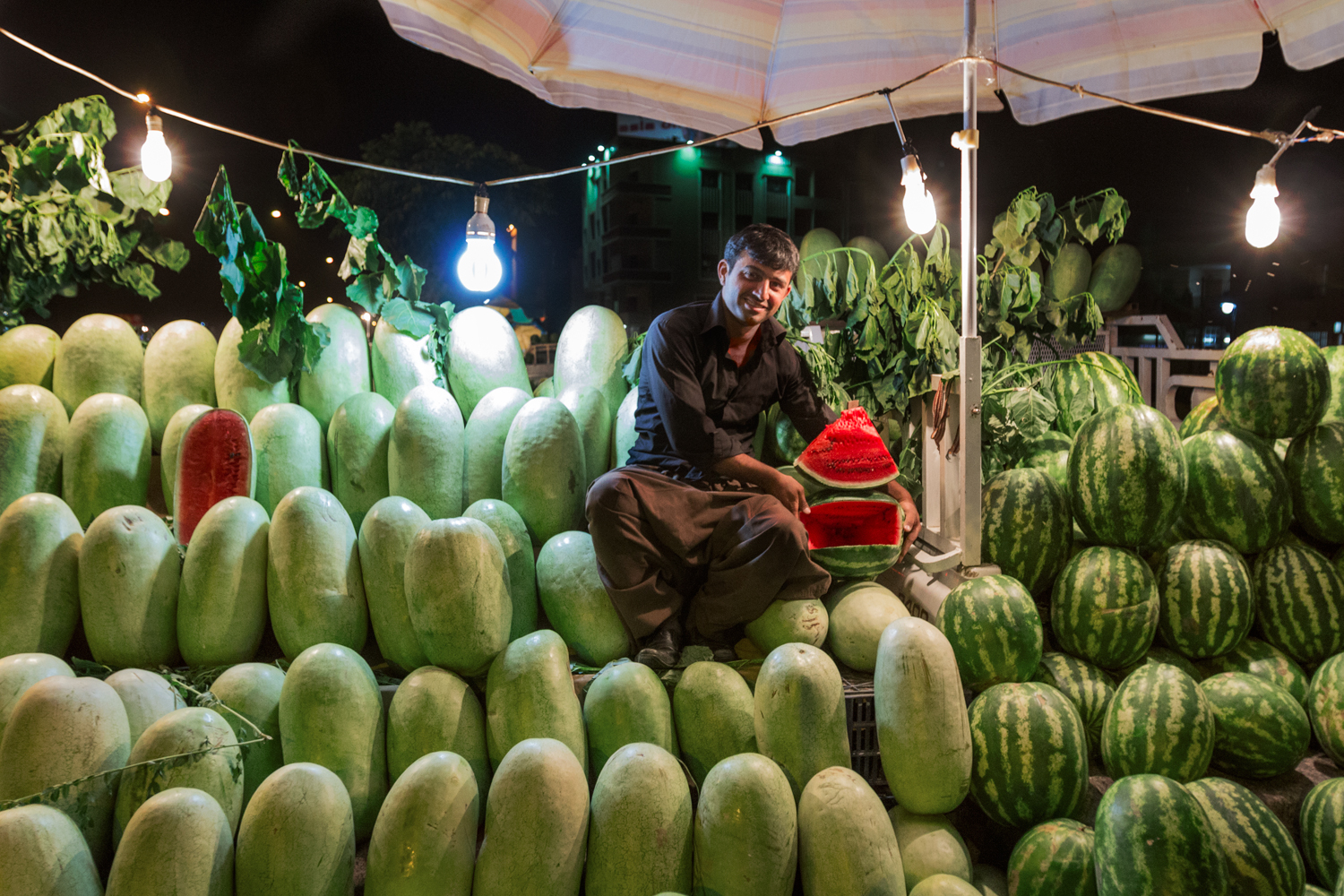 In Iraq, melons are synonymous with summer; in a region where clean drinking water is scarce, watermelons are a good source of water, and vendors line every major roadway. Previously the region cultivated & exported many varieties of melons; today, only a few remain. Along with the watermelon, many traditional crops to have suffered in the last decade, as farmers struggle to cultivate, transport, and competitively price their harvest.
