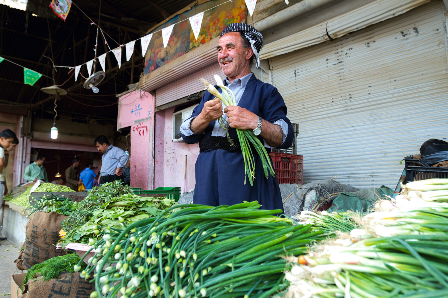 At Sulaymaniyah's markets, local produce was once the rule. Now, it is the exception. People say they recognize the poor quality of imported vegetables, but cannot afford the high prices of locally-grown—if they can find them at all. In an effort to encourage local farmers, the Ministry of Agriculture has often declared a forthcoming embargo on the import of many native crops (eg. cucumber, onions), but the ban has yet to be implemented.