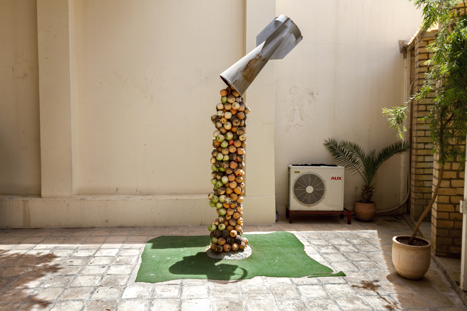A local artist has repurposed a discarded weapons cannister into a symbol of regeneration, pouring forth local stone fruit. Throughout the region, whether by public art installations or agricultural initiatives, it's easy to see how plants is metaphorically and literally wielded to represent renewal despite persecution.