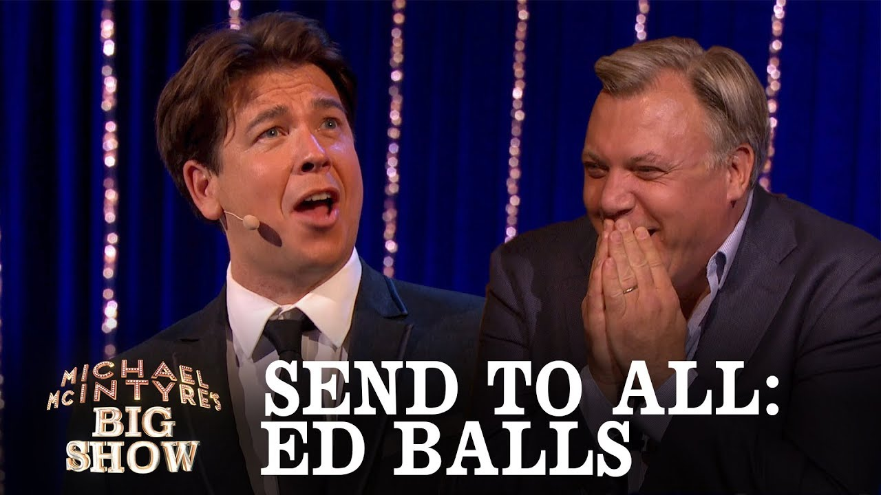 SEND TO ALL, MICHAEL MCINTYRE'S BIG SHOW - BBC ONE, NOV 2017
