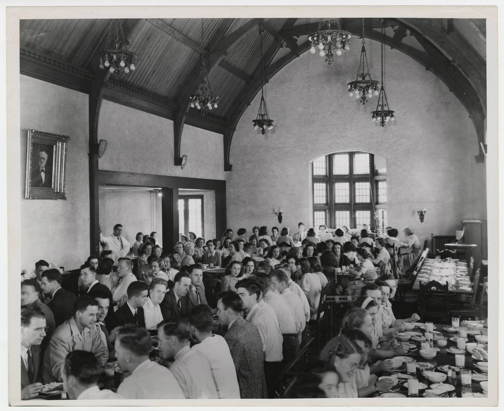 We often get asked what used to be in The Refectory before it became The Phoenix. The space has been used as a lecture hall and an exam room but the space was originally used as the dining hall for the folks living in Edwards and Wallingford residences.