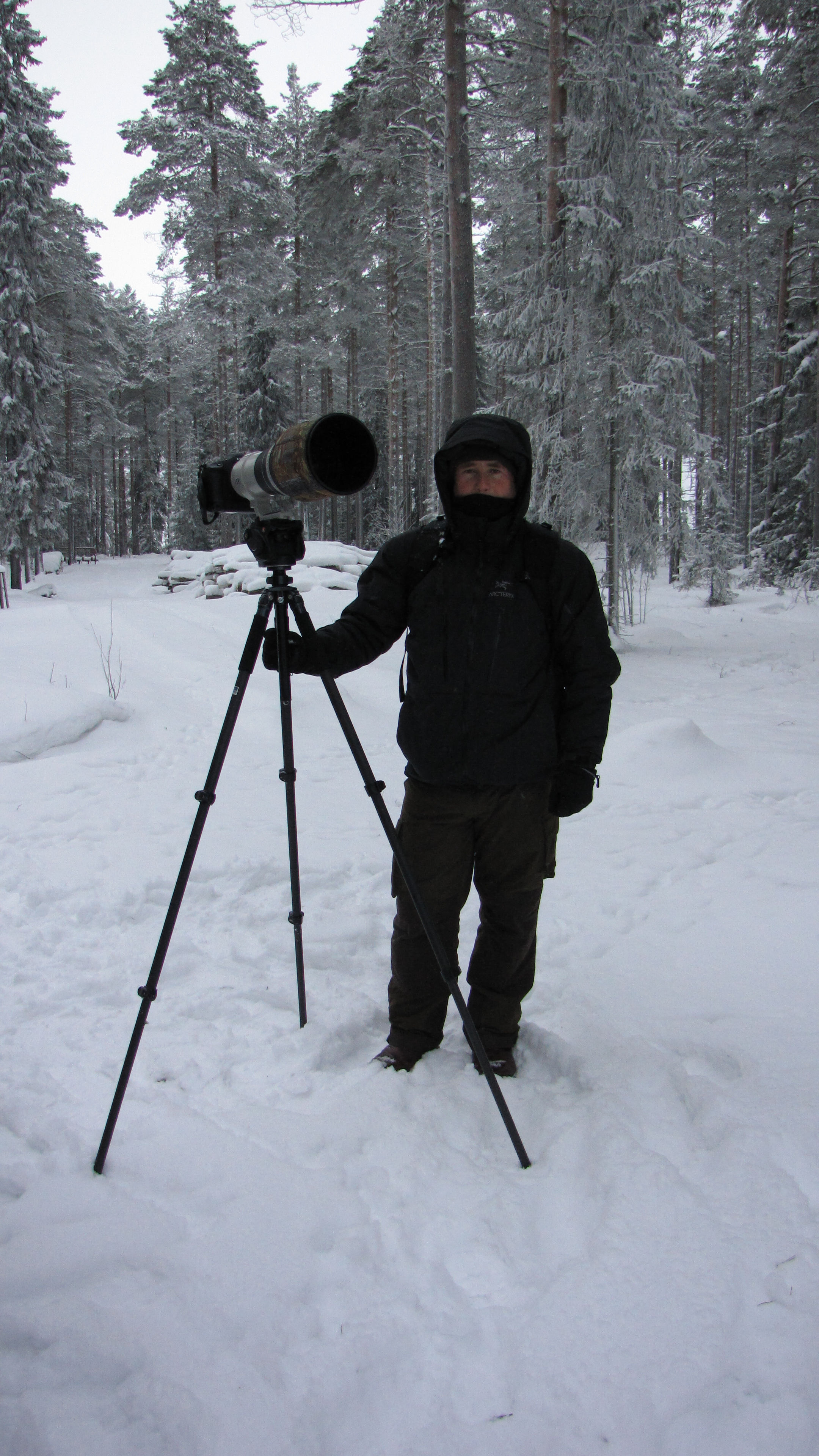 Super Telephoto tripod mounted with a Manfrotto video head - Finland.