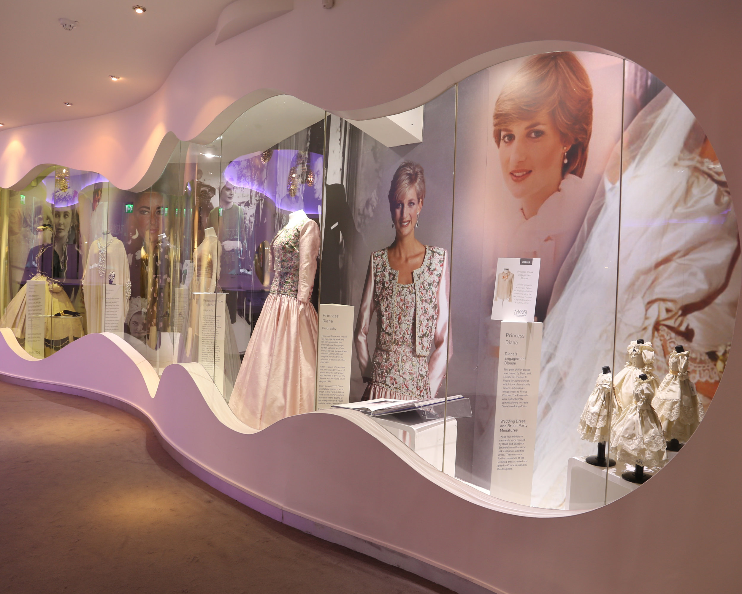 Diana display in the Museum of Style Icons