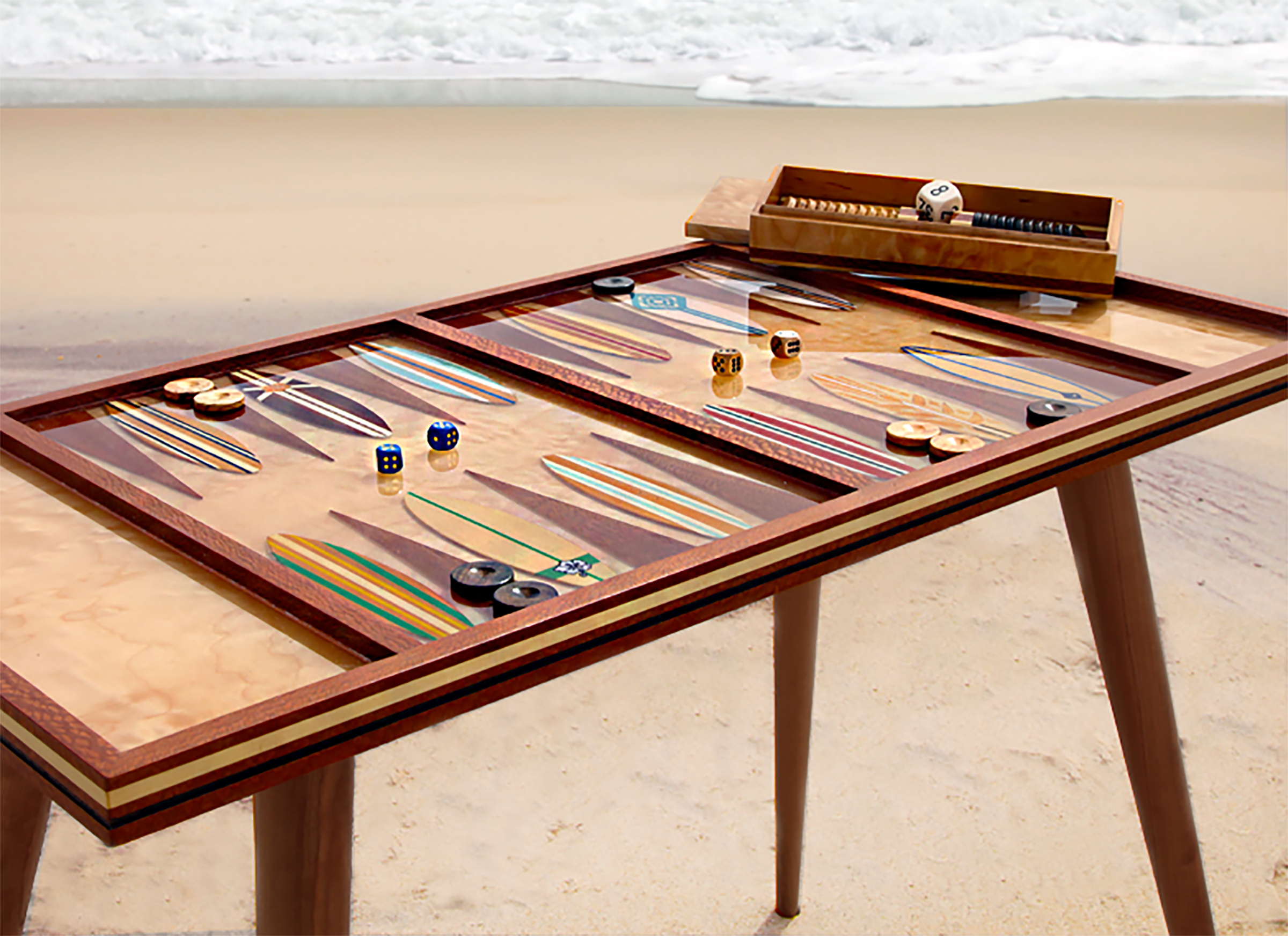 Montauk Playing Table (featured in Hampton's Cottages and Garden's magazine)