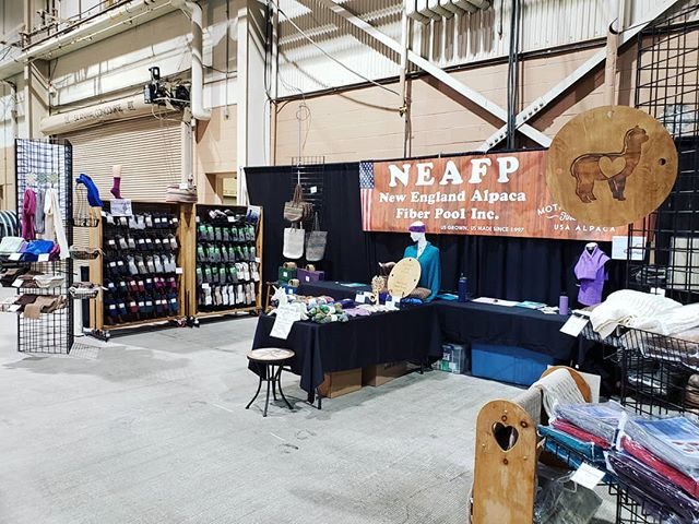 We are officially all set up at the MACACA Jubilee alpaca show! Come on by and check out whats new! #alpacashow #neafpco #madeinusa #alpacalife #naturalfibers