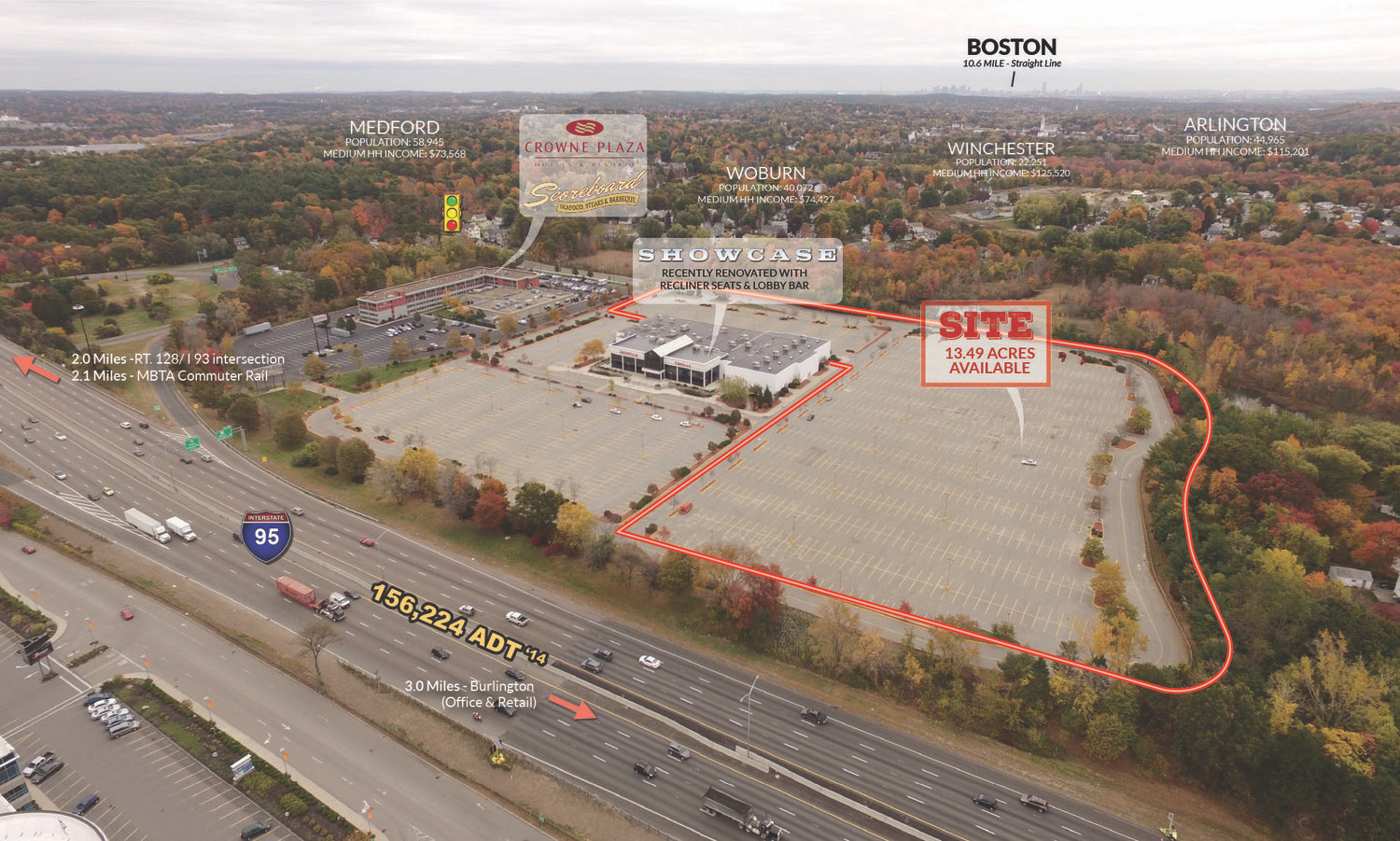 Location: Woburn, Massachusetts Size: +/-13.49 acre development