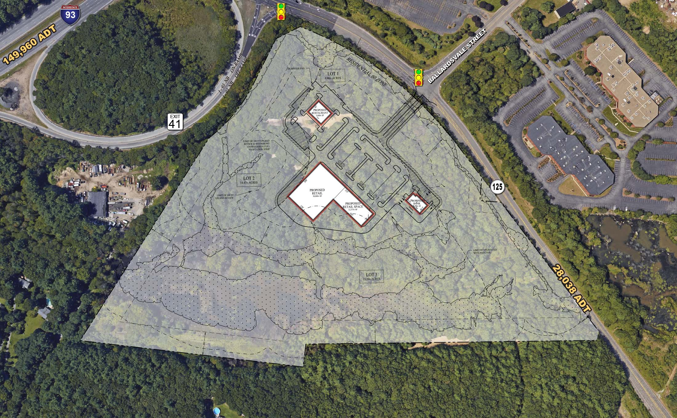 Location:    Wilmington, Massachusetts  Size:  Approx. 7.5 usable acres