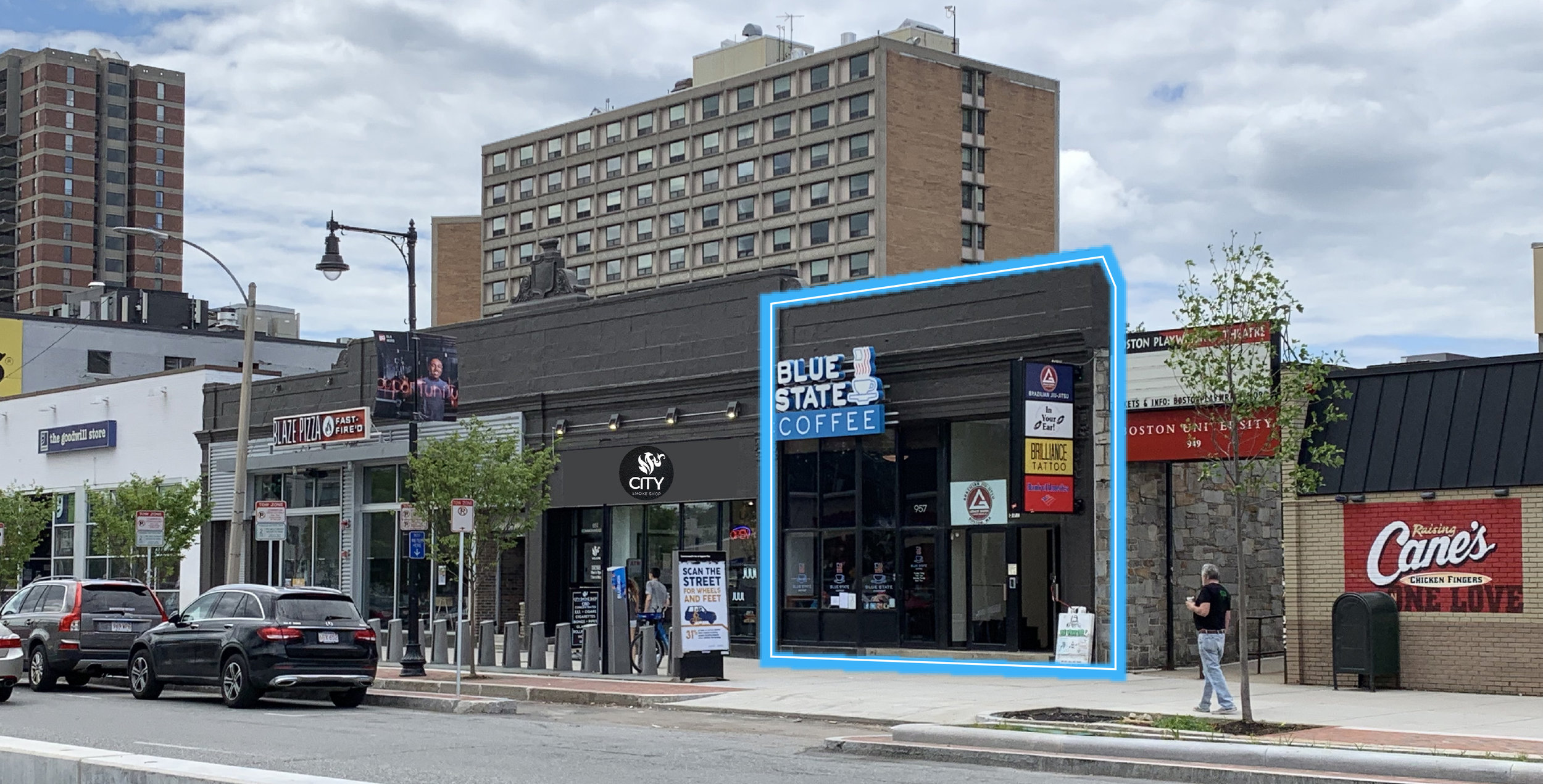 Location: Allston, Massachusetts Size: 800 - 1,900 SF