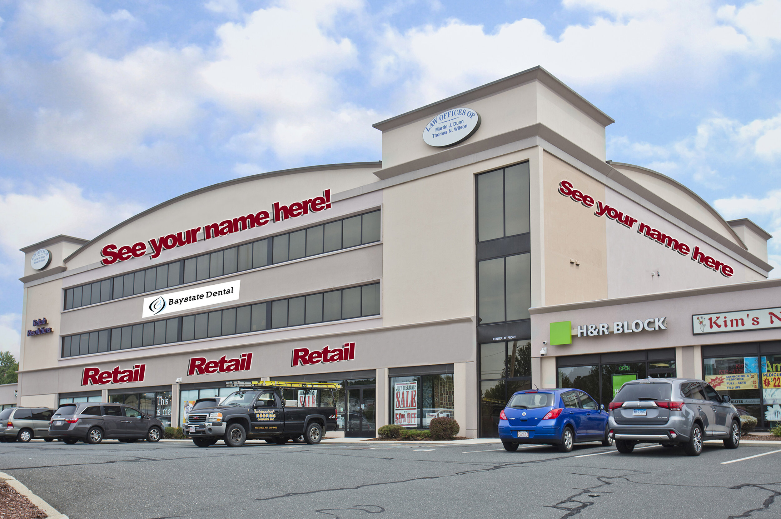 Location: 98 Lower Westfield Road, Holyoke, Massachusetts Size: +/- 13,200 SF (sub-dividable) of ground floor retail available and +/- 3,000 SF of retail/office flex space available