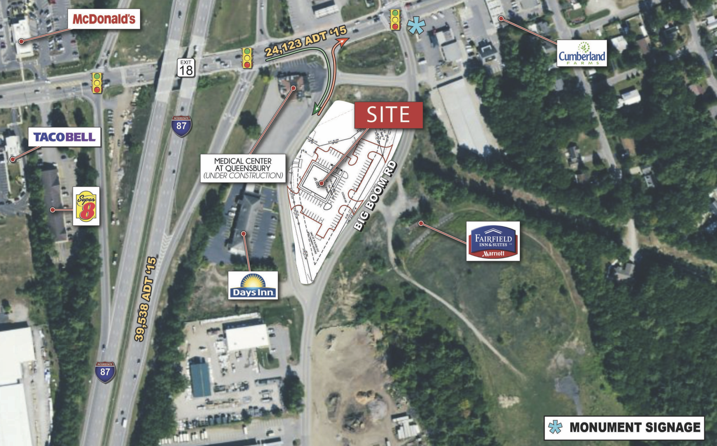 Location: Glens Falls, New York Size: Up to 6,300 SF on 1.7 acres