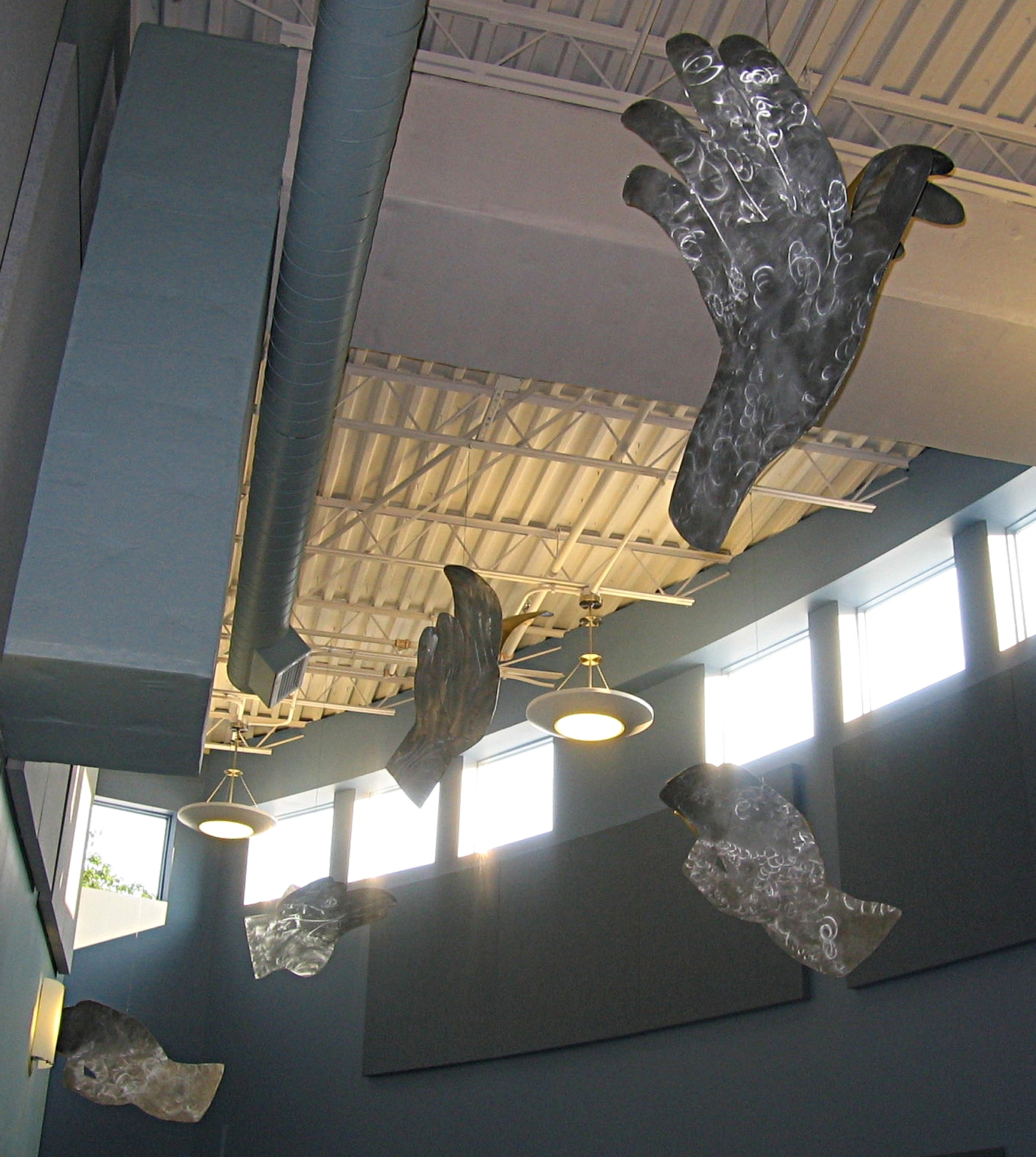 Soaring - Aluminum. Baxter School for the Deaf, Portland Maine, 2008