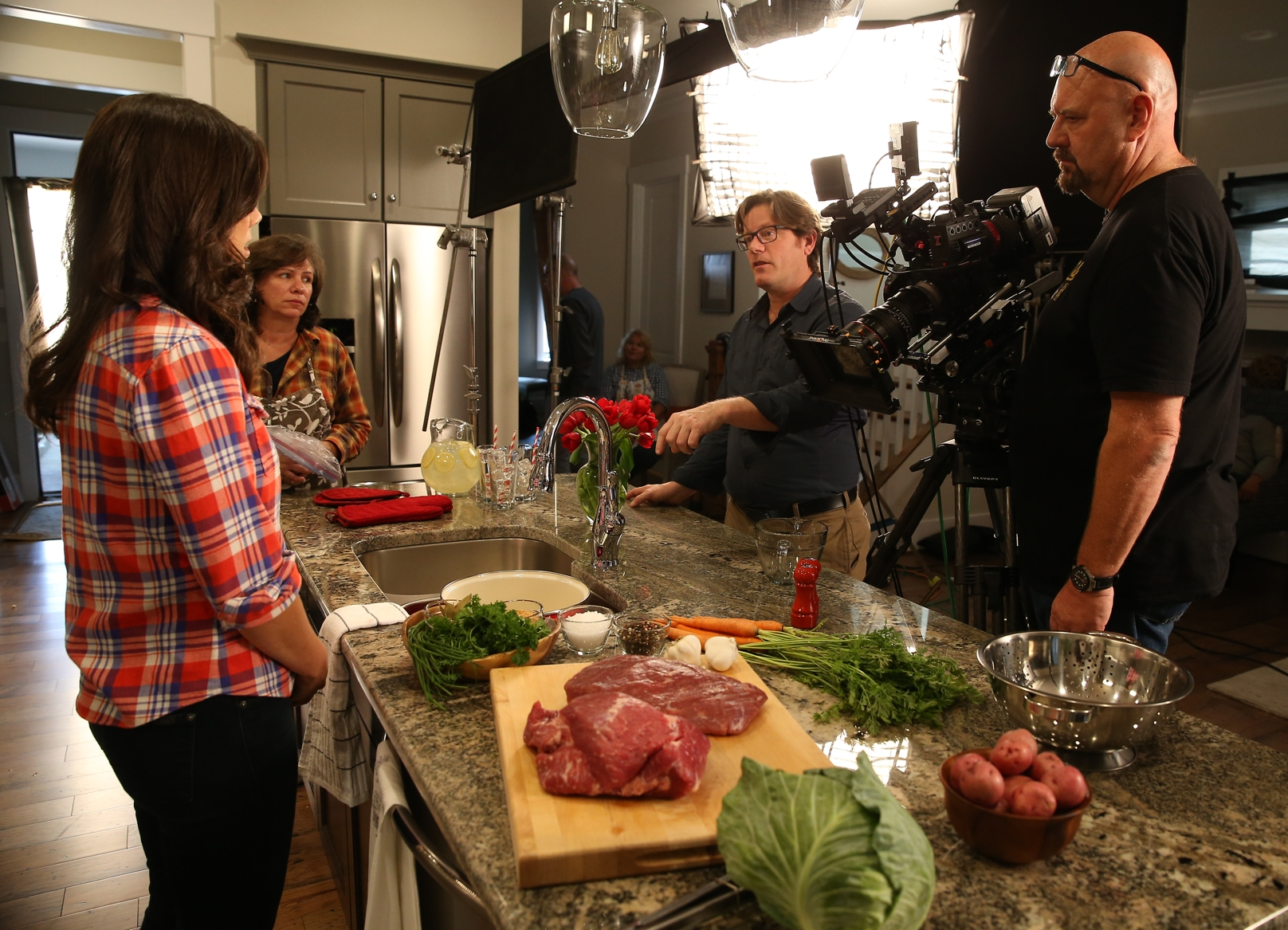 Working with Claire Robinson on a commercial for  Freirich Foods .