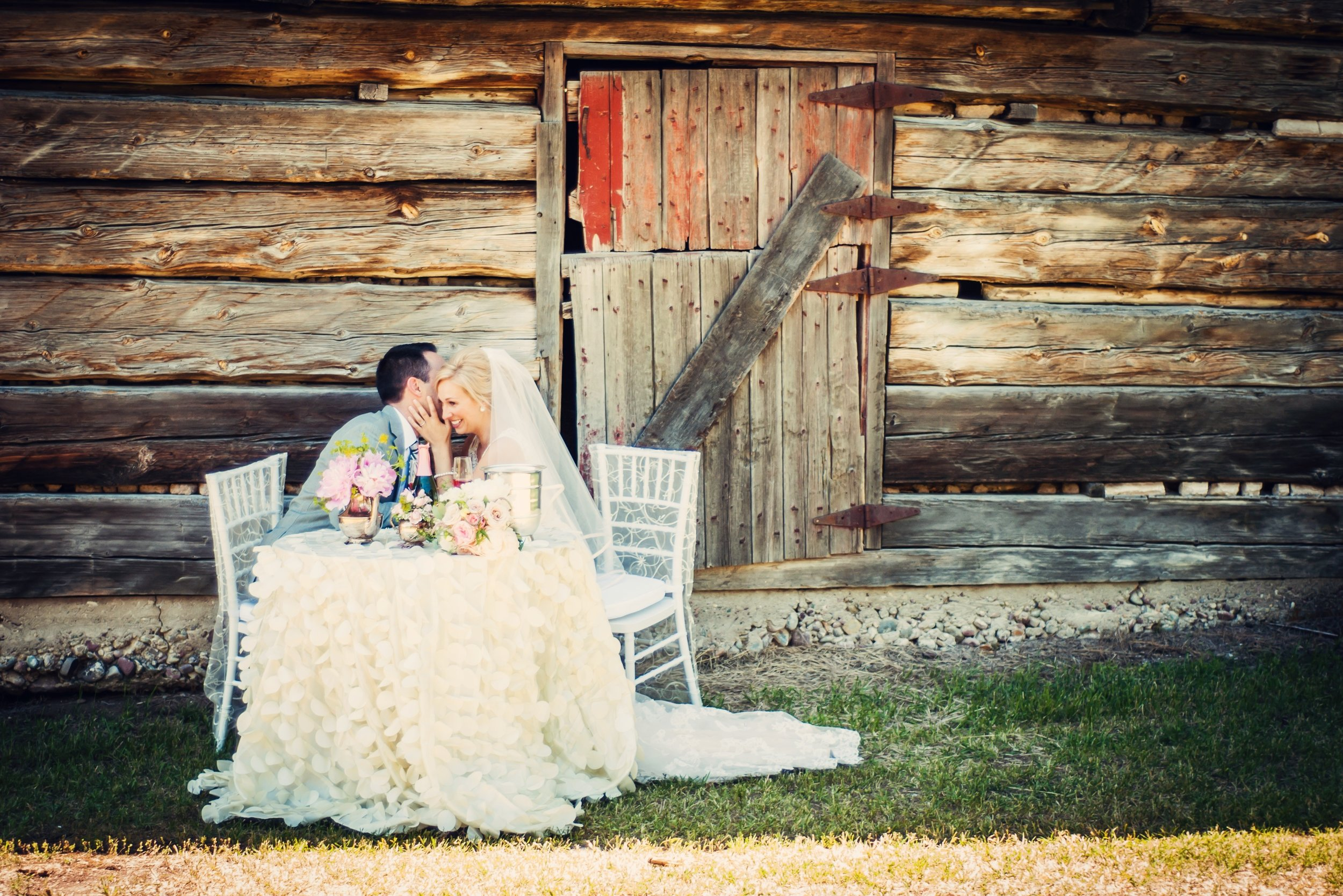 Rustic Barn Wedding Shot - Rya and Josh