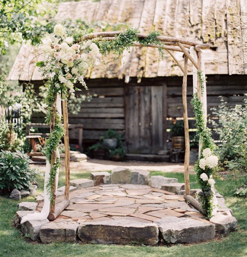 Rustic Wedding Altar at The Weatherwood Homestead.jpg