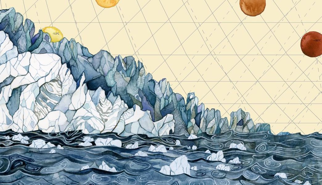 ART FROM CLIMATE CHANGE DATA -  WWW.JILLPELTO.COM