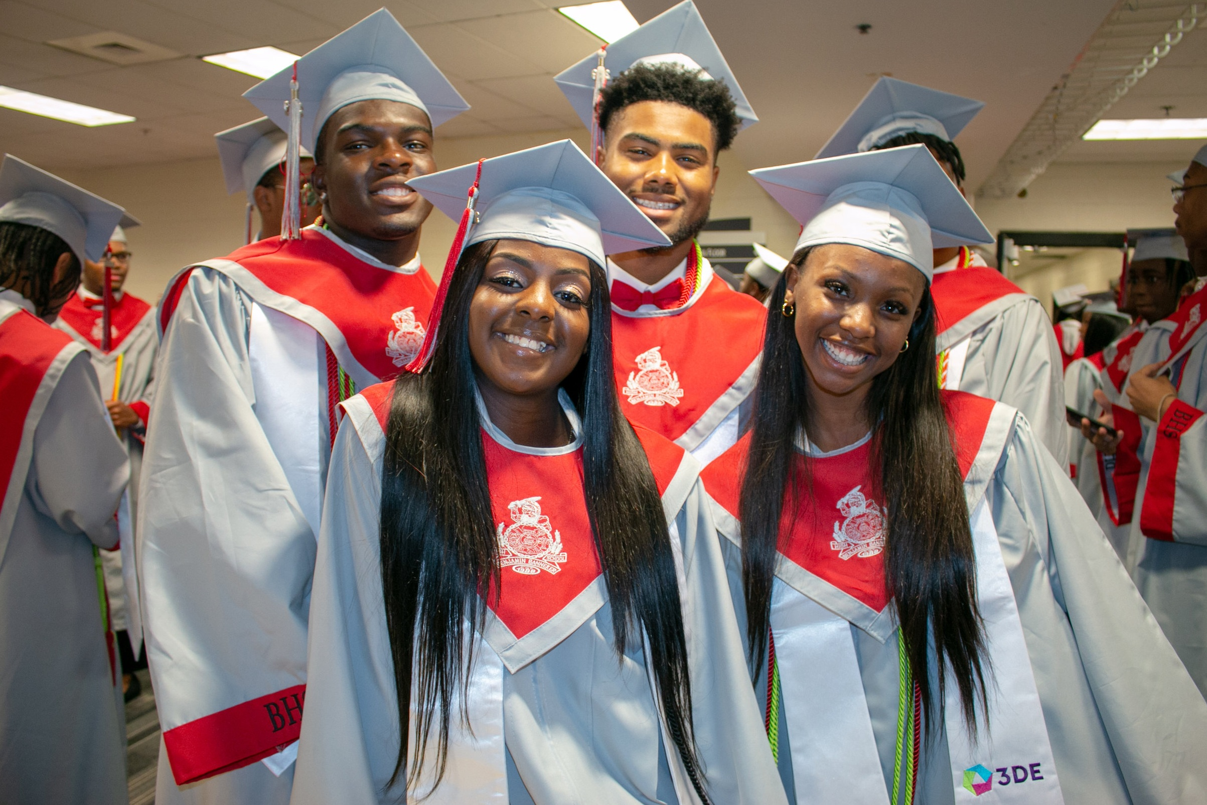 Graduates of the inaugural 3DE class at Banneker High School