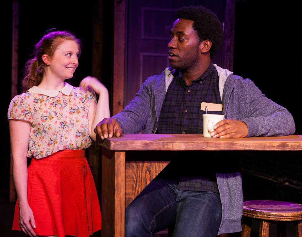 Becky Byers (BELLE) & Chinaza Uche (WARREN) in FLUX Theater Production.