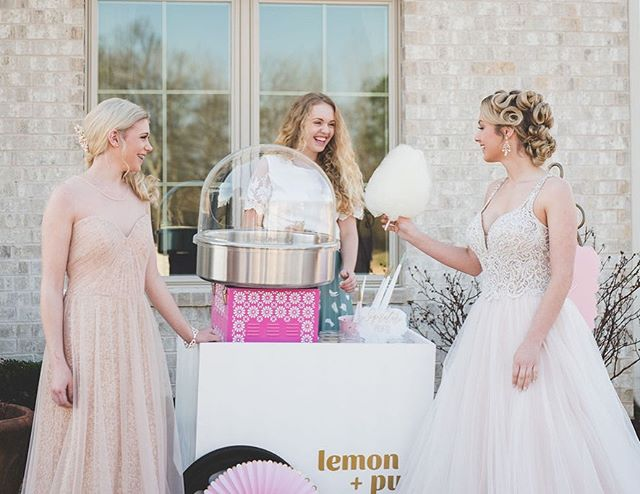 So happy to finally share this shoot with you all!! It was the most fun spinning up cotton candy with this team and I loved the vision for this day! Head to @theperfectpalette to see all the details of this lovely Laduree-inspired styled shoot💛  Photography:  @artphotographybysydneyrasch  Creative Direction & Event Planning: @meredithevents  Venue: @crossironcottage Flowers: @silksabloom  Video: @sunflower_films Dress: @thebridalcottage Jewelry: @bridesmaidgiftsboutique  Hair: @fydsalon Makeup: @sojadedmakeup Balloons and Balloon Design: @balloontownar  Gourmet Cotton Candy: @lemonandpuf  French Macarons: MaryClare Macarons  Cakes: @patticakesar  Invitations: @basicinvite Sprinkles: @fancysprinkles Suit: @qclothier Models: @mariahalexis_2016 @schalow_nadia  and Geoffrey Oraha