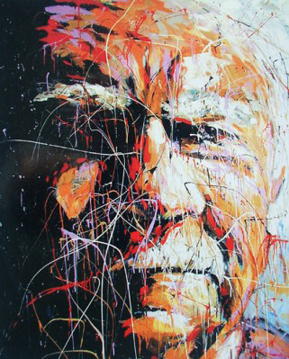 Portrait painting of LA Times Al Martinez