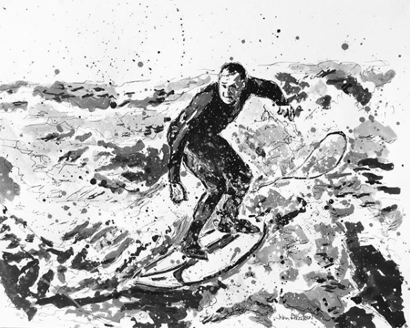 surfer figurative drawing