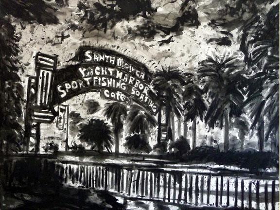 Santa Monica Pier - 5 x 6 feet