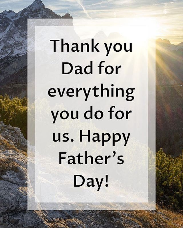 Happy Father's Day to all Dads worldwide