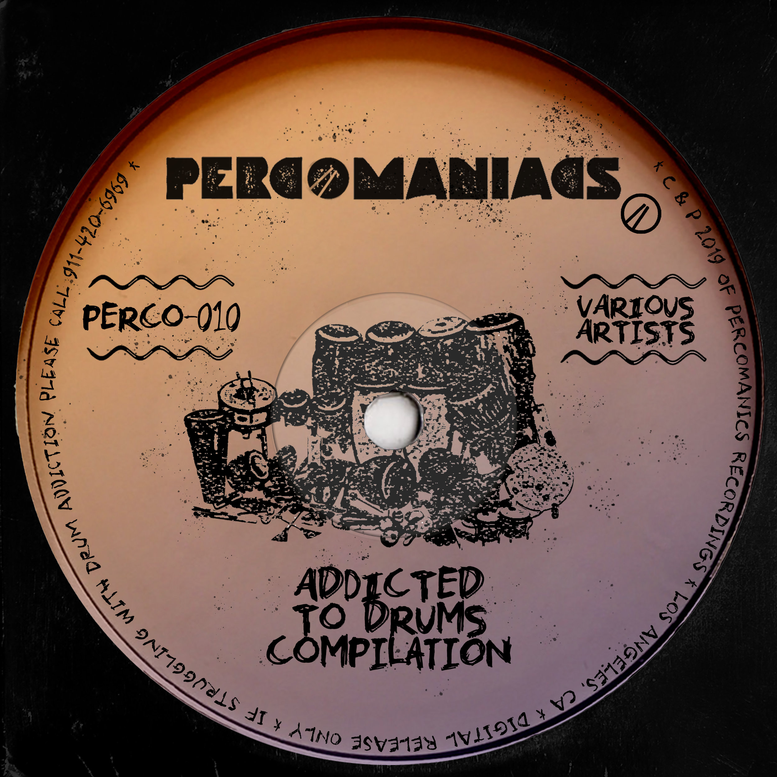 PERCO010 - VA - ADDICTED TO DRUMS COMPILATION
