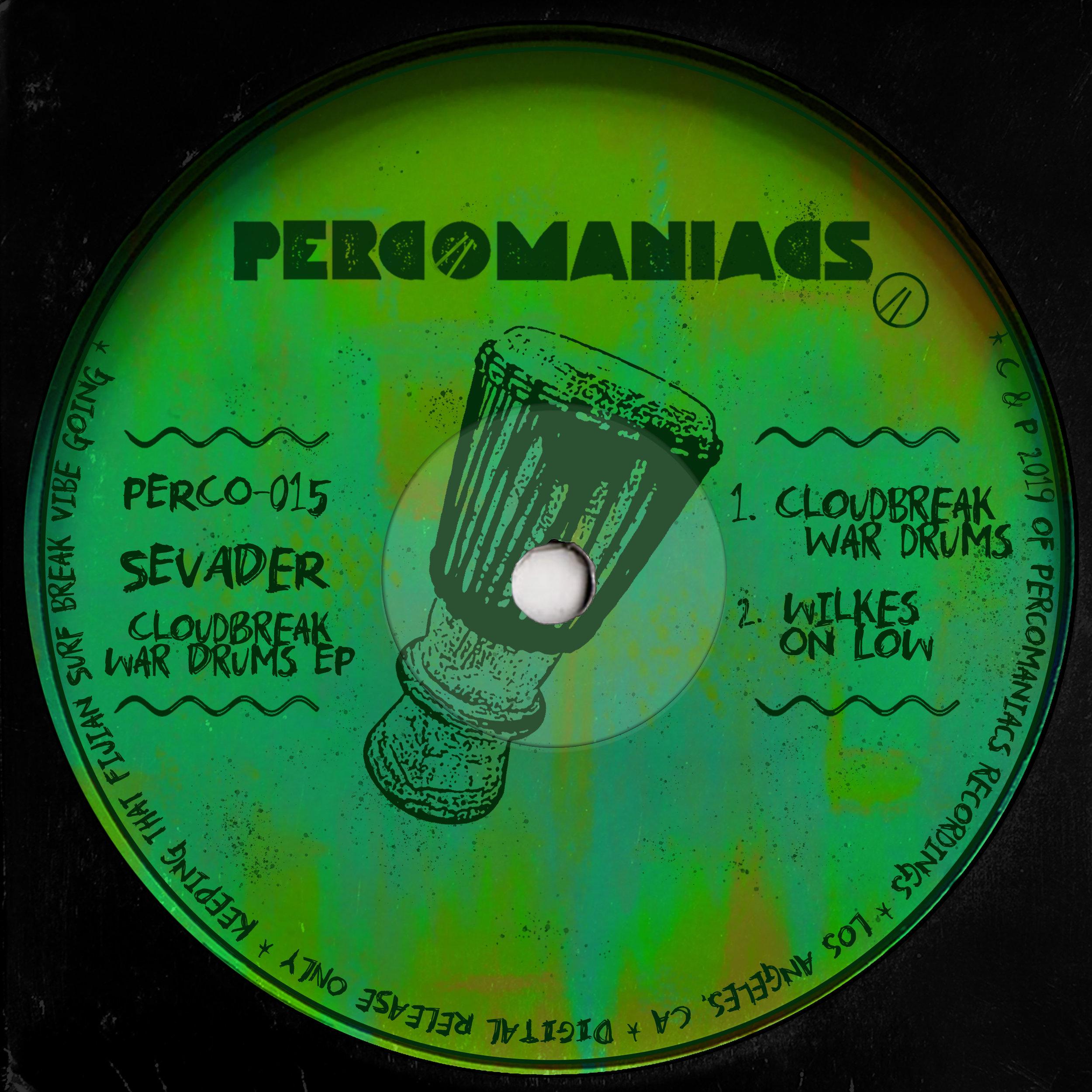 PERCO015 - SEVADER - CLOUDBREAK WAR DRUMS EP