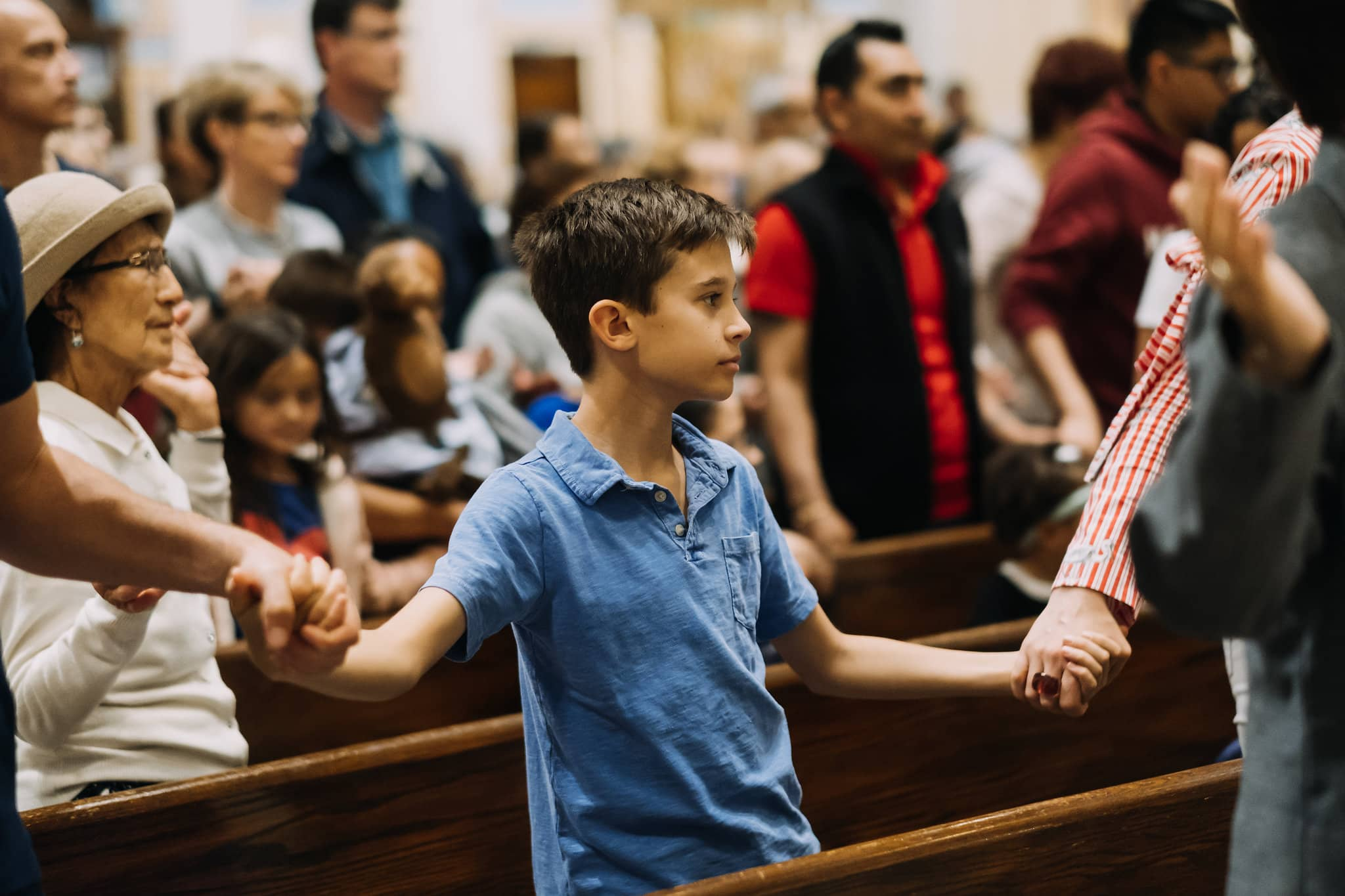 youth-kids-group-our-father--hands-hold-mass-st-francis-de-sales-church-new-york-city.jpg