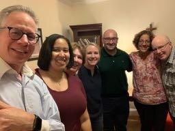 From left: Tim Keeley, Christina Garcia, Alice Boyne, Alicia Tiedeman, Agatino LaTorre, Jayne Porcelli, Fr. Philip Kelly. Not pictured: Jorge Vargas, Monsi Valencia