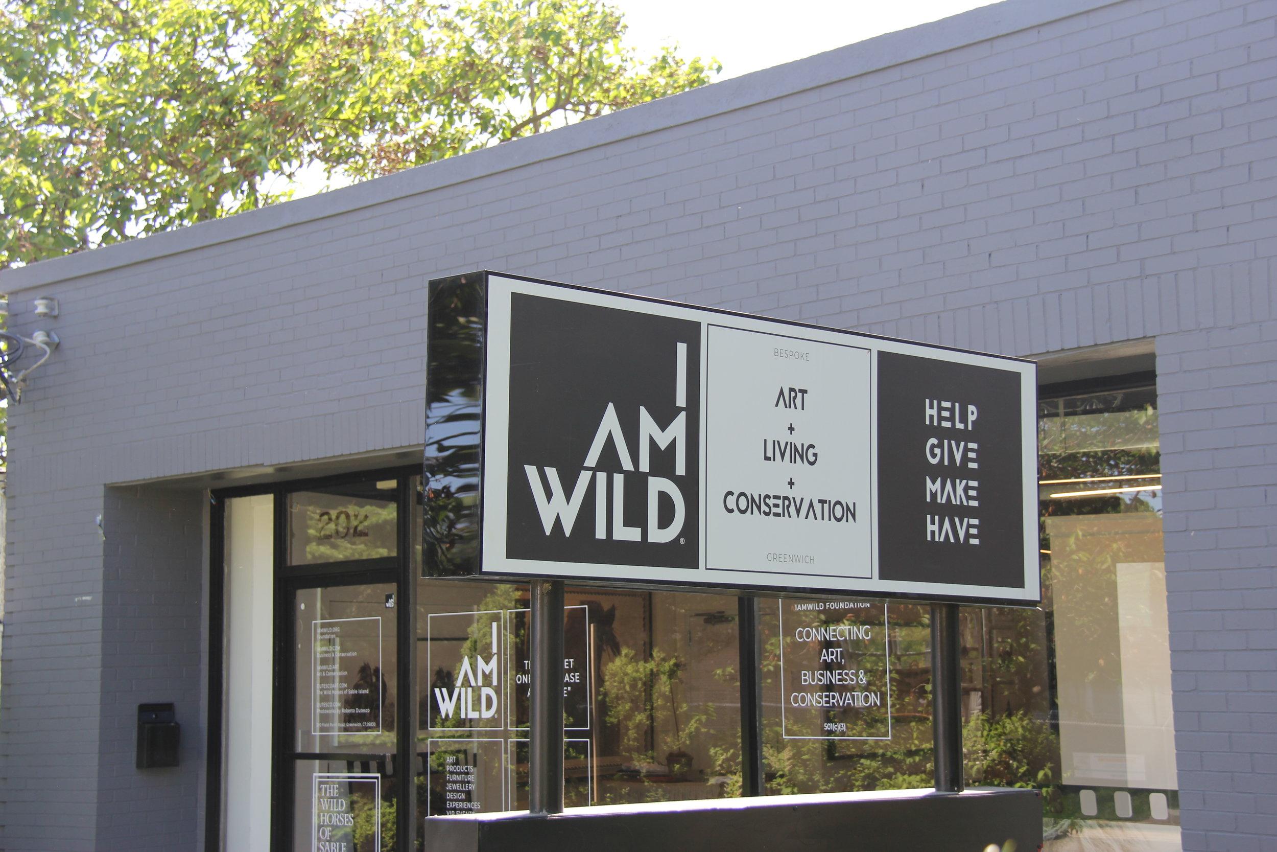 I Am Wild Signage