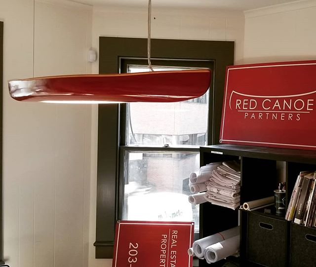 A Red Canoe Chandelier for the Red Canoe Headquarters