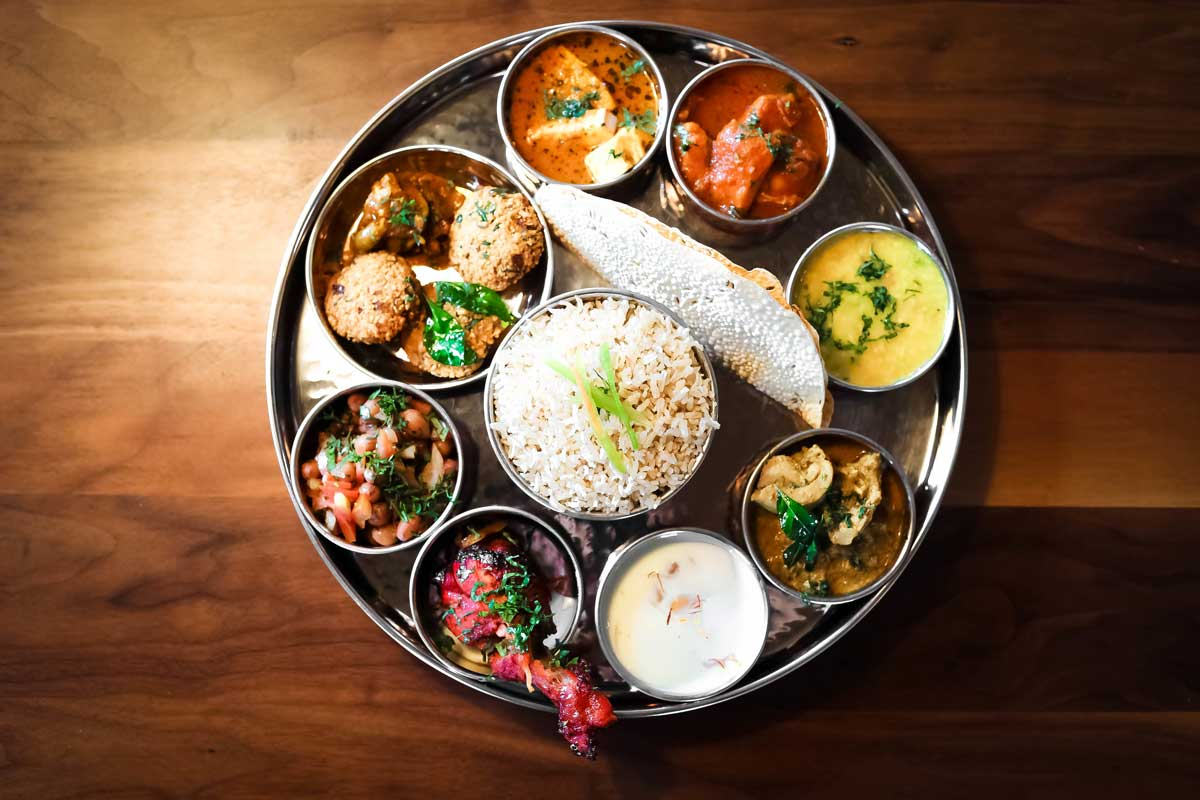 Thali Platter at Saffron Valley Indian Cuisine