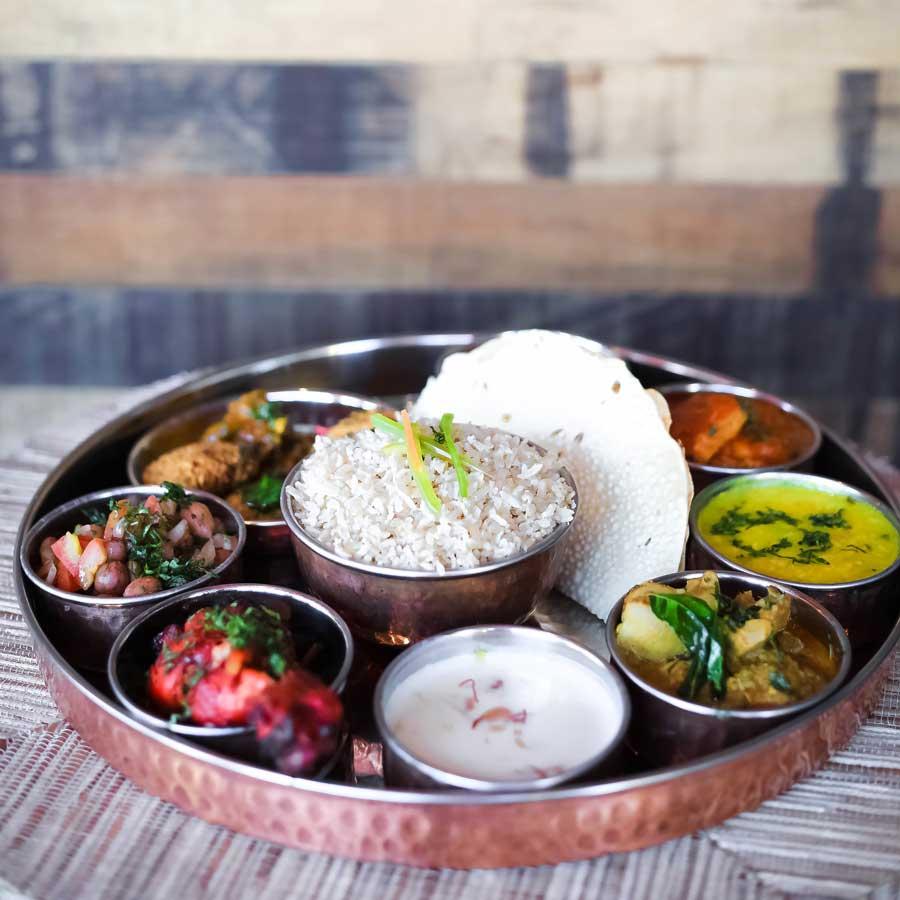Thali Platter Indian Cuisine Salt Lake City Utah