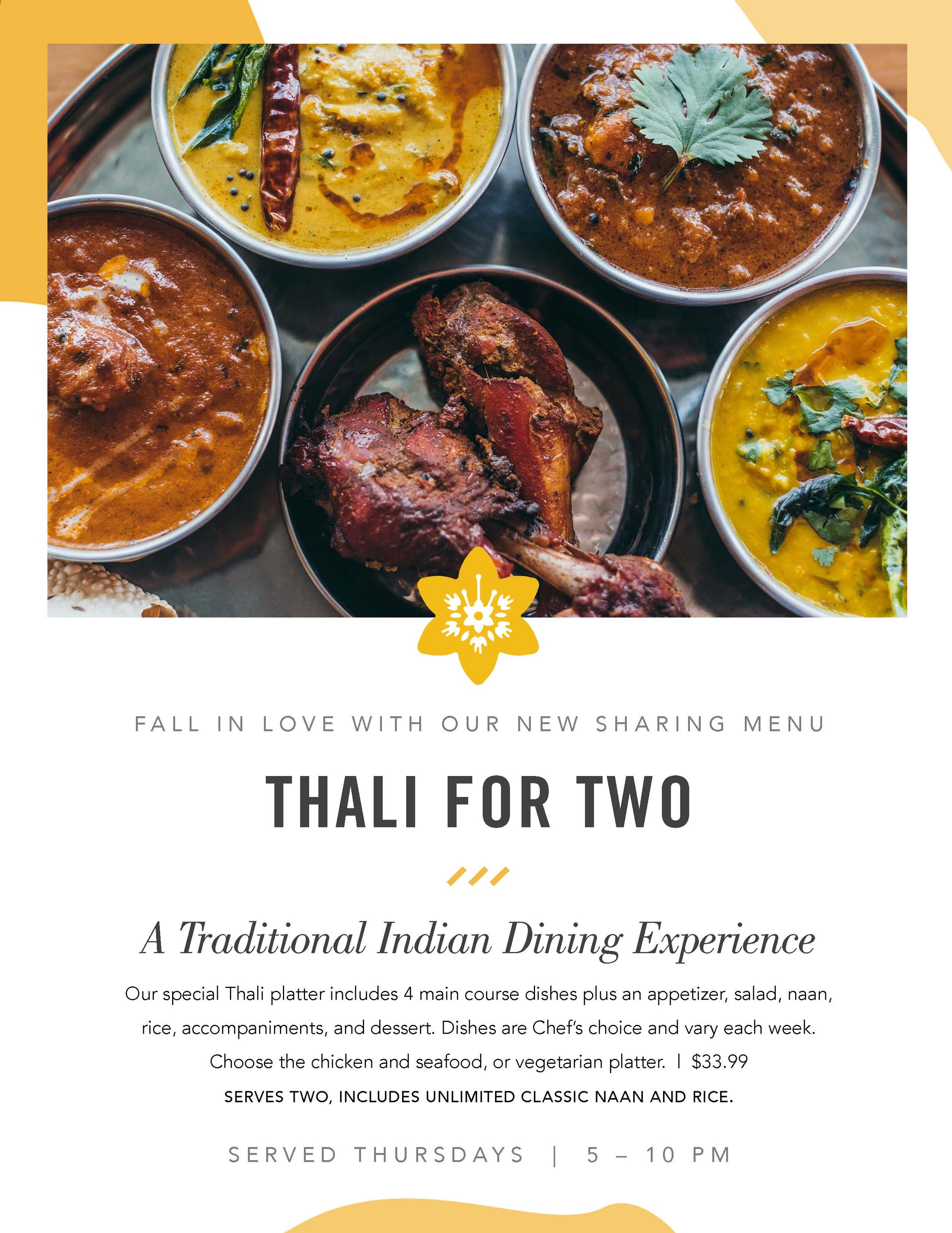 Thali For Two A Traditional Indian
