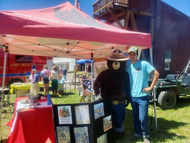 Smokey stopped by our booth at the 4th of July parade in Rico!
