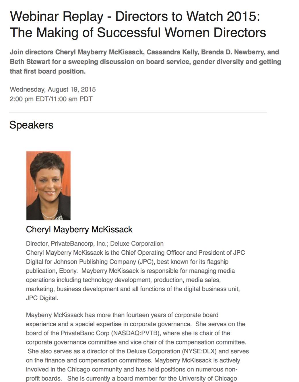 The Making of Successful Women Directors - Directors & Boards