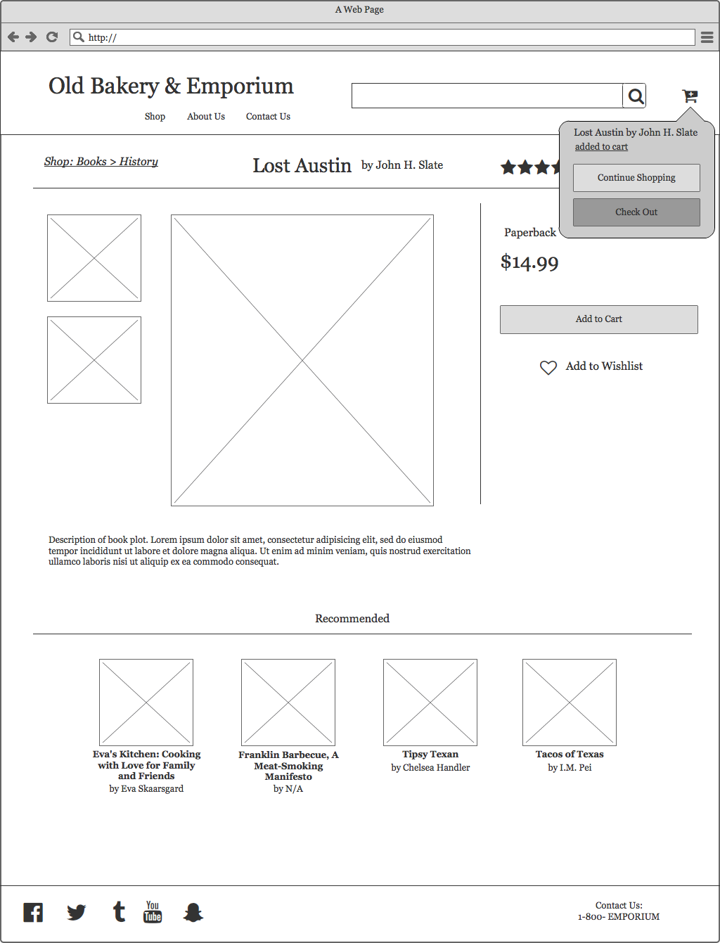 Most recent iteration of the product page.
