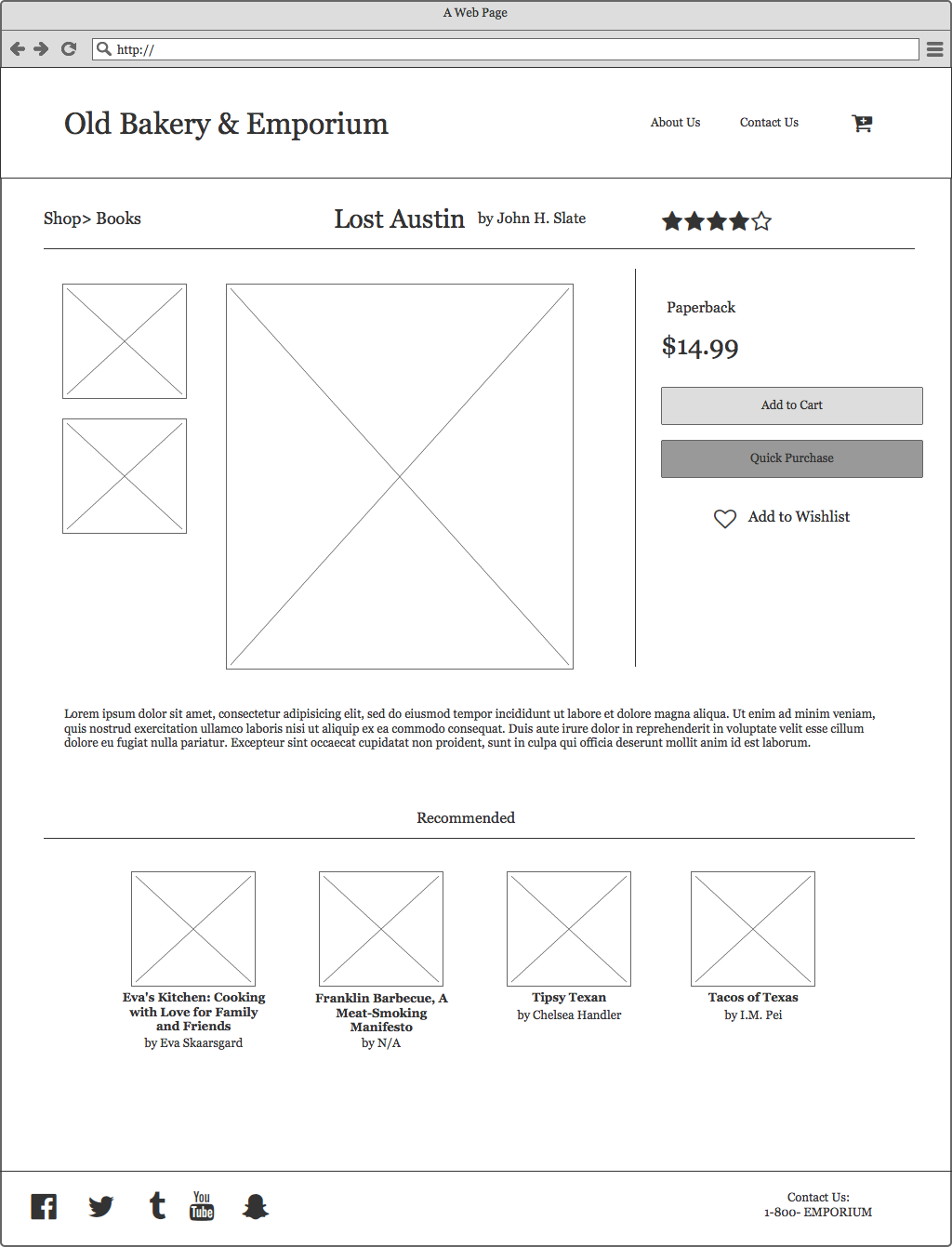 First iteration of the product page.