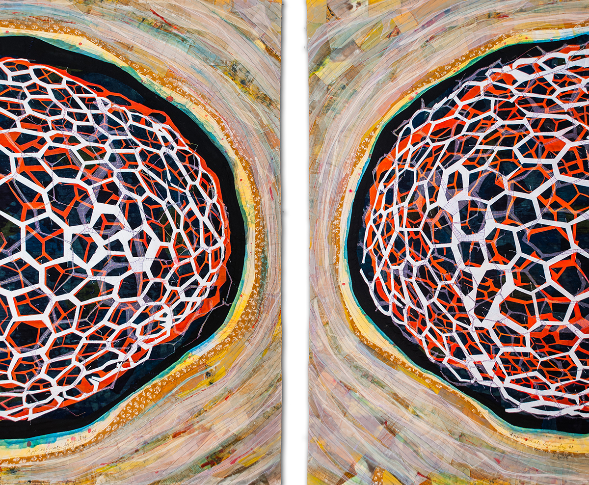 "Approximate Symmetry -- 36"" x 52"" -- 2015"