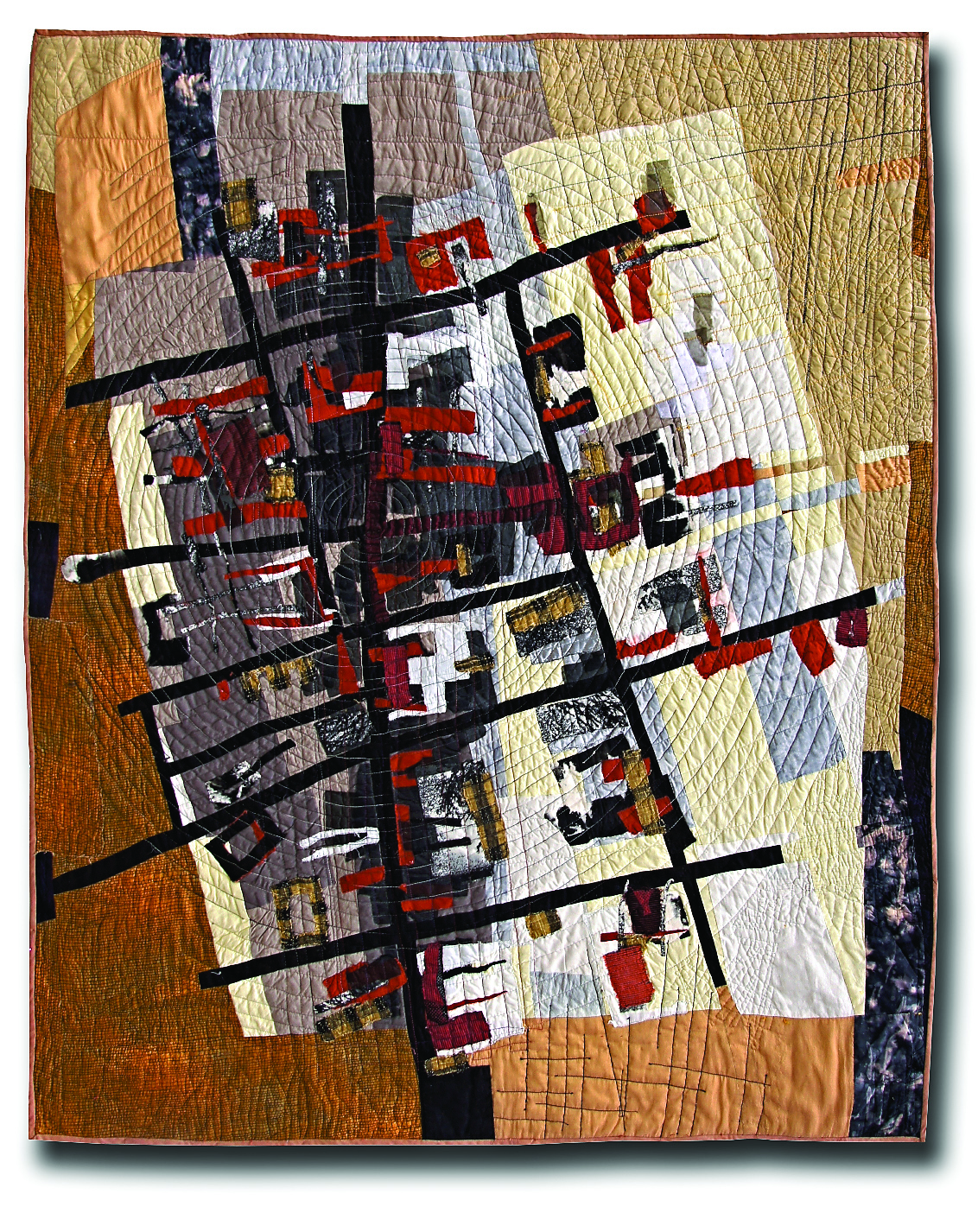 "City Grid II -- 39"" x 46"" -- 2001 -- Private Collection of Peter Stone"